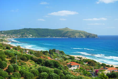 palinuro: Cape of Palinuro in Italy in beautiful summer day Stock Photo