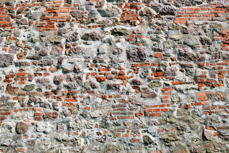 Old red brick stone wall texture