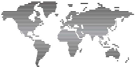 Simple Abstract World Map Black And White Stock Photo