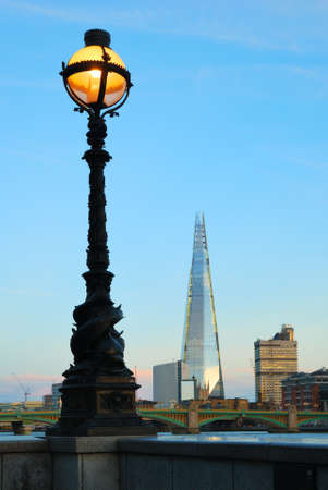 Street lamp and London Southwark buildings photo