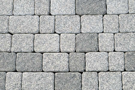 Abstract cobblestone pavement texture background Stock Photo