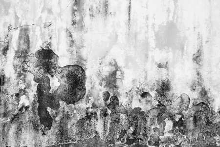 Dirty and flaked old wall texture in black and white color