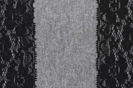 Abstract textile decorated with lace texture background photo