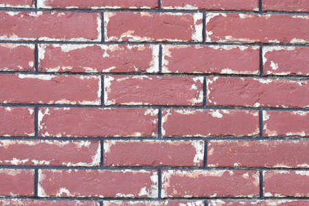 Old red brick rock wall texture background photo