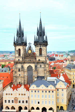Church of Our Lady in front of Tyn in Prague, Czech republic photo