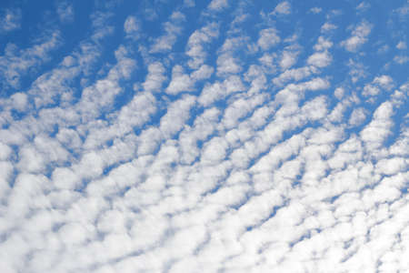 Interesting white clouds and blue sky background