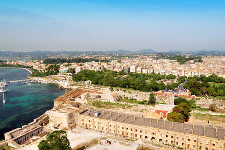 kerkyra: Historic center of Kerkyra town on the island of Corfu in Greece