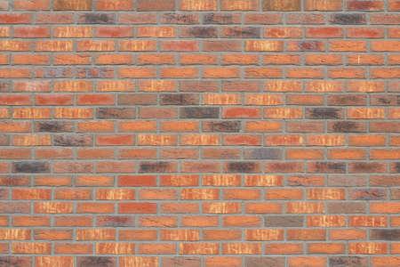 New orange bricks wall texture background photo