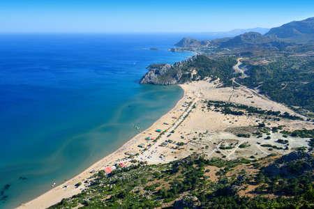 tsampika: Tsambika beach on the island of Rhodes in Greece
