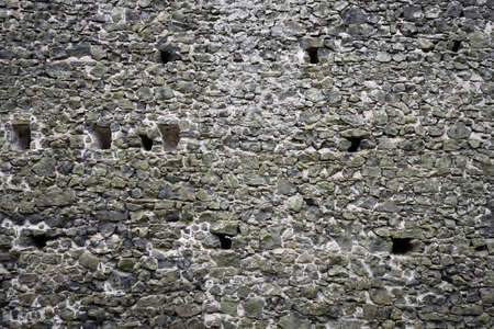 rampart: Ancient castle stone wall rampart texture Stock Photo