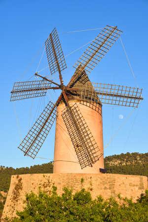traditional windmill: Old traditional windmill under a blue sky Stock Photo