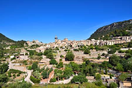 poetic: Beautiful village of Valldemossa on Majorca island in Spain Stock Photo