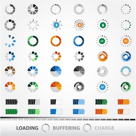 progress bar: Loading, Charging, Buffering, Play.