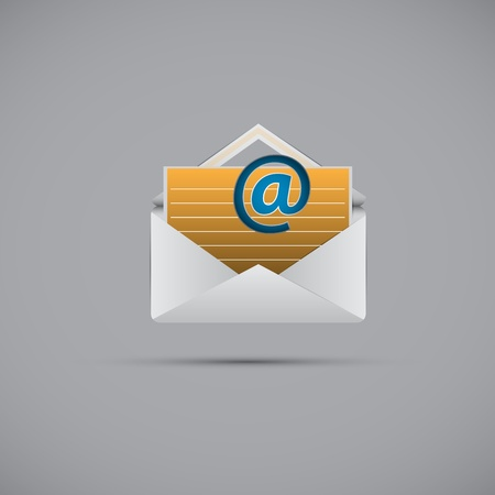 e  mail: e mail and message Icon