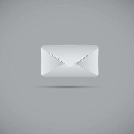 email and message icon web design element  Vector