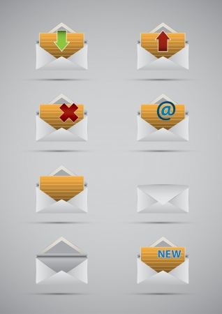 chatbox: Set vector e mail and message icons  Illustration