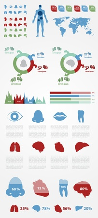Medical Infographic Elements with Icons and Presentation  Full Vector Stock Vector - 17995851