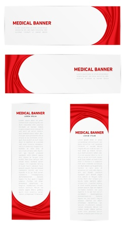 Red Medical Vector Banner with text. Stock Vector - 18234383