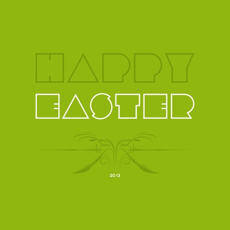 Happy easter cards illustration retro vintage and fonts