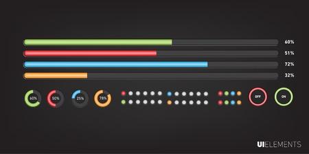 UI Elements Design, Web site design, Web buttons Stock Vector - 18753756
