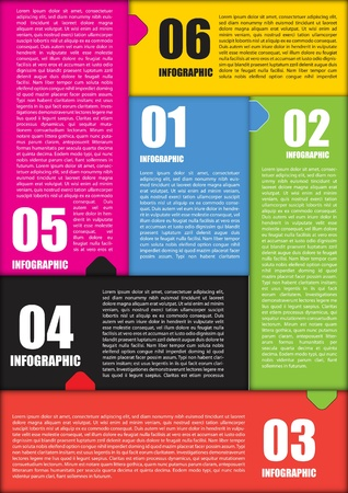 Minimal Modern Numbered infographic and Presentation with six number and textbox