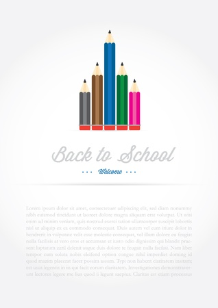 illustration of education object on back to school background