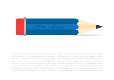 Back to school background, vector illustration.