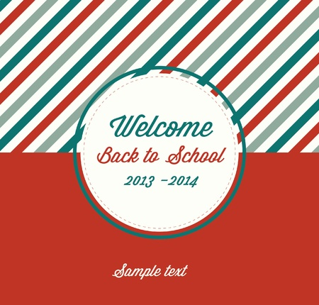 Back to School Typographic Elements - Vintage Style Back to School and Looking Cool Design Layout In Vector Format Vector
