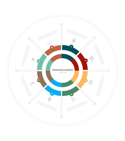 Circle Presentation, and Infographic Elements. Illustration