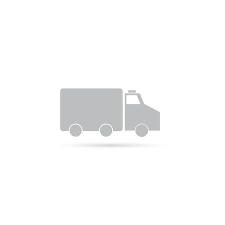 ambulance icon. vector illustration.