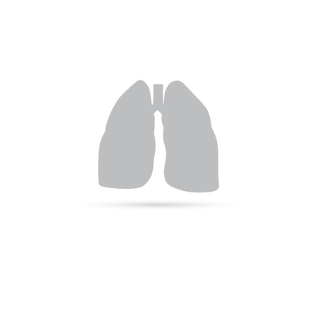 pulmonary icon. vector illustration. human organs. Vector