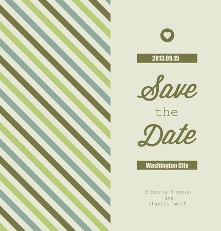 Wedding Invitation Card Template . Vector Illustration.