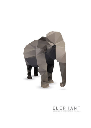 Abstract Triangle Geometrical Elephant Illustration  Vector