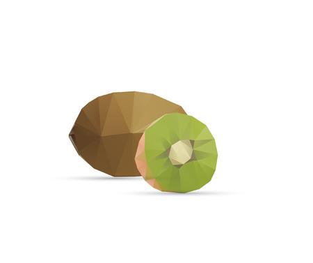 Abstract Triangle Geometrical Kiwi Illustration
