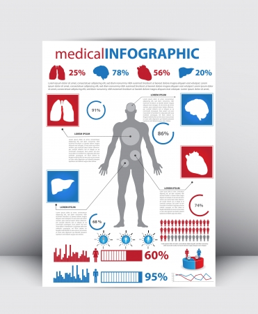 High Quality Medical Infographics Element  Vector