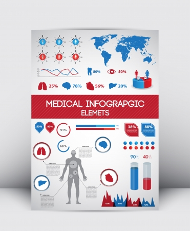 High Quality Medical Infographics Element  Illustration