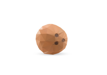 Abstract Triangle Geometrical Coconut Illustration