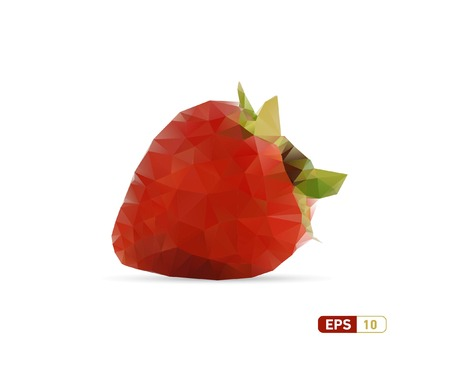 Abstract Triangle Geometrical Strawberry Illustration  Illustration