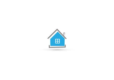 Blue mondern house icon  Ilustration  Full vector  Illustration
