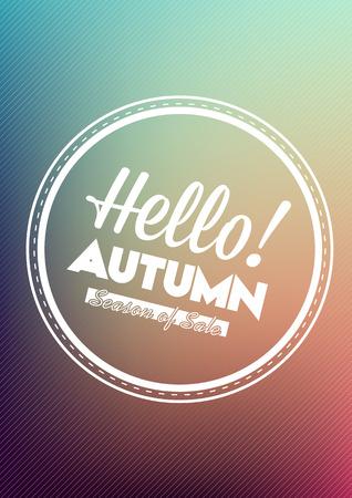 Autumn Typographic Design - Hello Autumn Season of Sales
