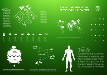 ecology info graphics collection- charts, symbols, graphic elements Illustration