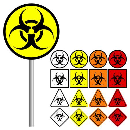 Biological Hazards ( Biohazard ) Symbol Icon Illusztráció