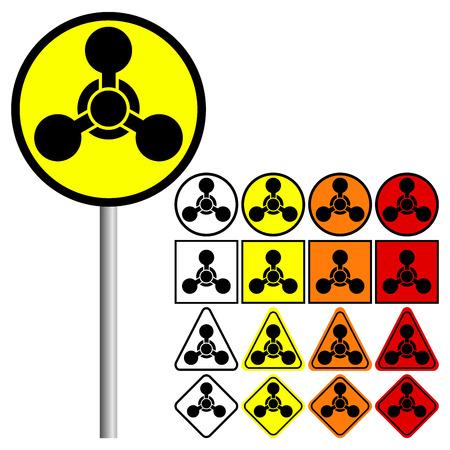 riesgo biologico: Símbolo armas químicas