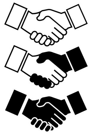 Business Handshake Icon Illusztráció