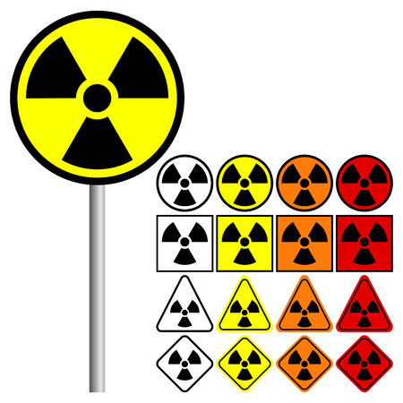 caution chemistry: Nuclear Symbol Icon