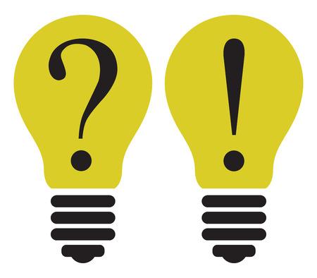 Light Bulb - Thinking concept. Vector template illustration