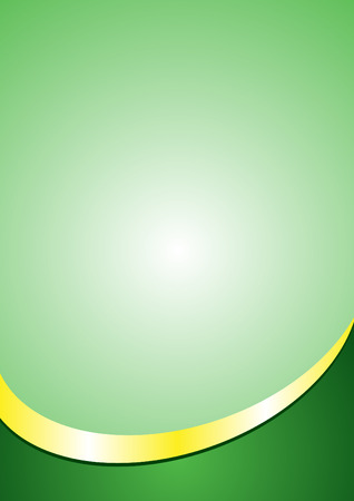 A4 Poster Background Template. Green and Gold Color ( Footer )