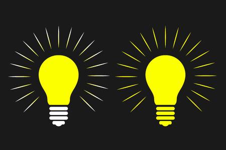 Light Bulb, Idea, thinking, Concept. Vector illustration Illusztráció