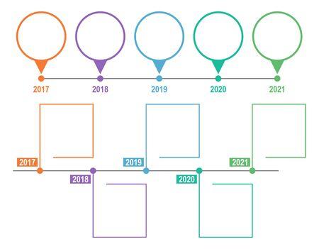 Timeline Infographic Template. Vector illustration