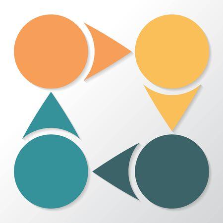 Infographic 4 parts, pieces, sections, options or steps. Vector Template. Illusztráció
